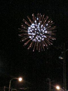 旭川で花火見たよ